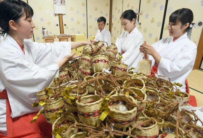 山笠の縁起物作り櫛田神社で大詰め! イムズで地鎮祭もの画像