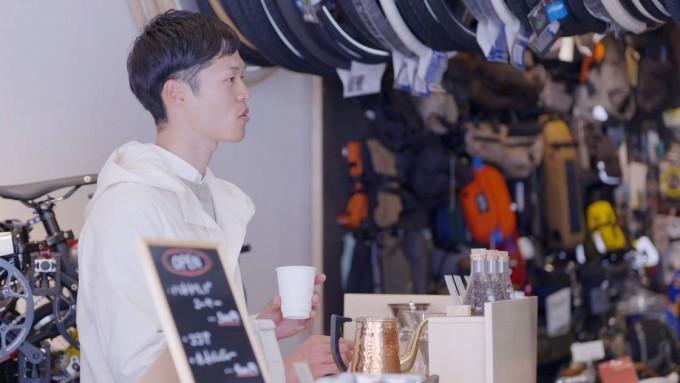 福岡の街角に出没「自転車移動喫茶」 最小限のコストでかなえた夢の画像