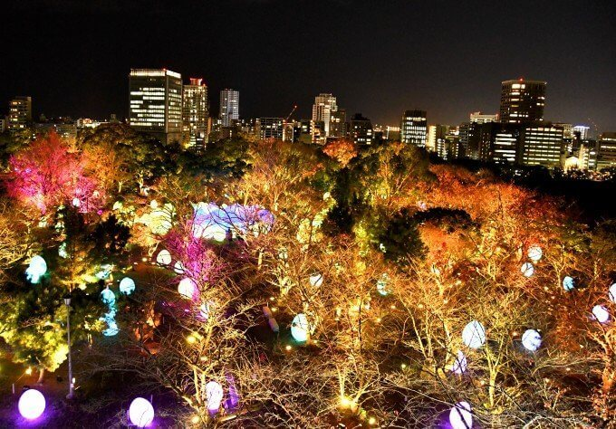 チームラボ今年も開催! 福岡城跡の「光の祭」へ行ってきたの画像