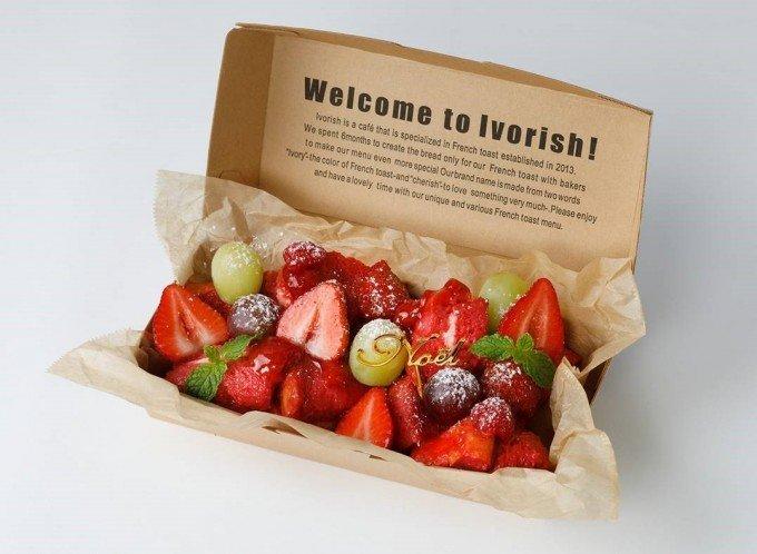 冬の大人気メニュー 真っ赤なフレンチトースト【Ivorish】の画像