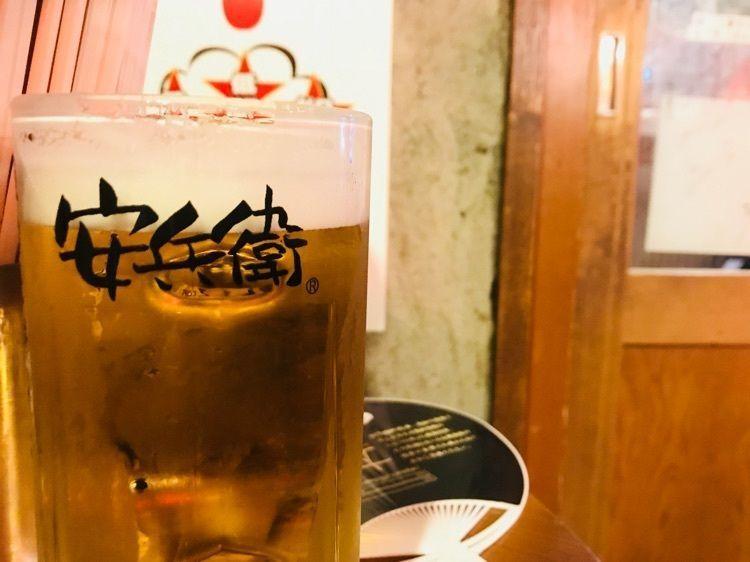 #平成最後の夏安兵衛 #餃子 #ビール #安兵衛 #えびすの安兵衛
