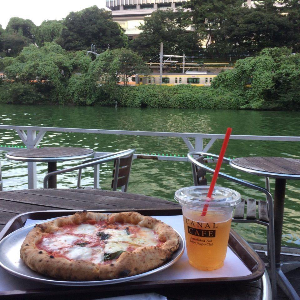 #眺めの良いCAFE #飯田橋のカフェ #電車が見えるカフェ