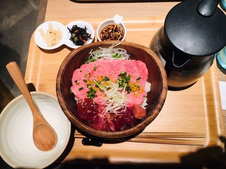#博多 #グルメ #博多デイトス地下 #こめらく #海鮮丼 #お茶漬け #うますぎ #ご飯お代わり無料