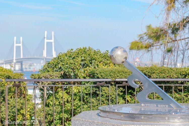 #yokohama #yamate #myyokohama #港の見える丘公園 #公園 #横浜散策 #ベイブリッジ #日時計 #横浜 #横浜フォト #おでかけ