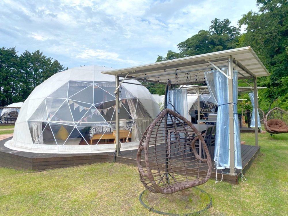 #glamping #グランピング #伊豆シャボテンヴィレッジ #ハンモック #ドーム型テント #タカちゃんの日常
