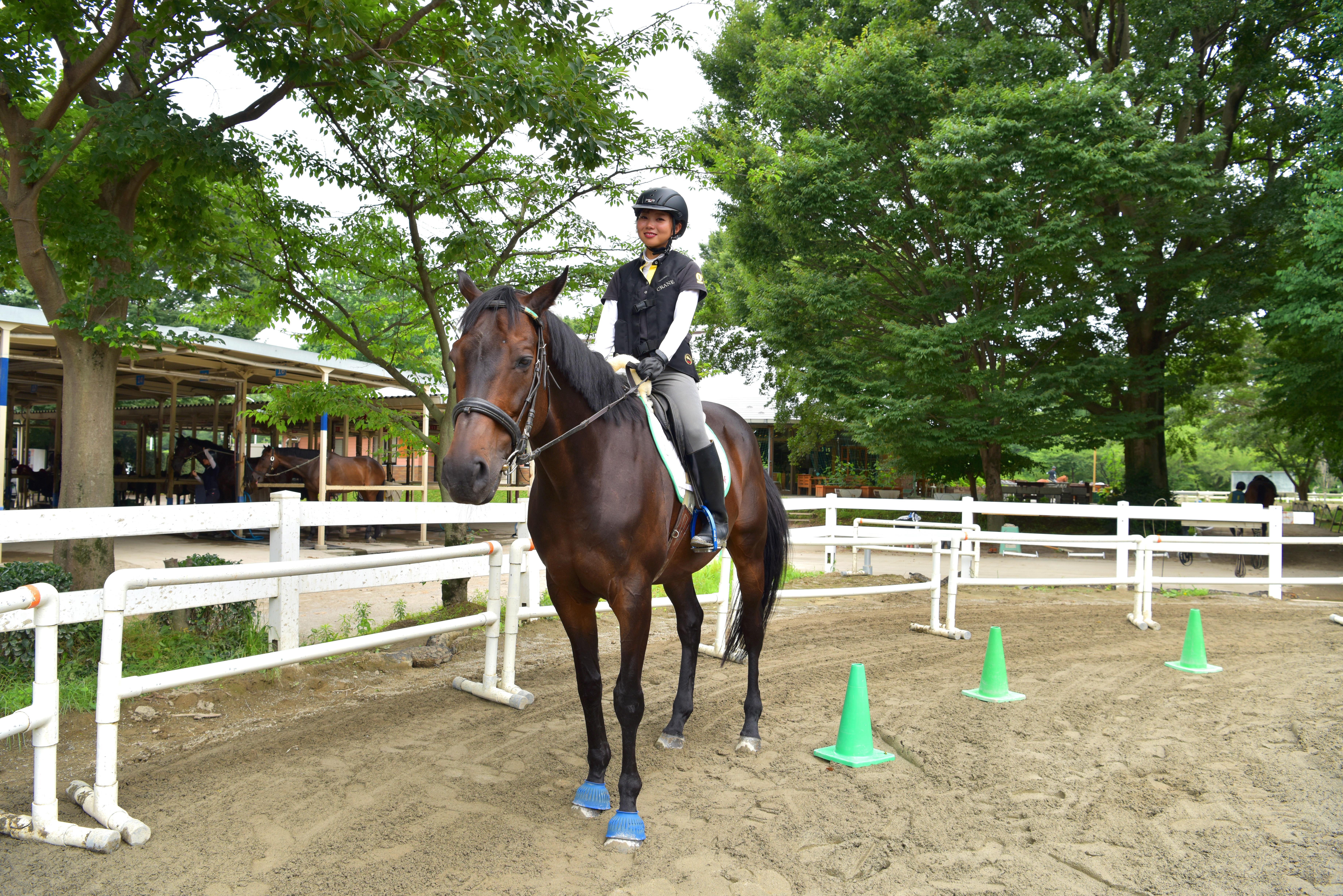 【インドアvsアウトドア】インドア女子は乗馬体験を楽しめるのか!?の画像